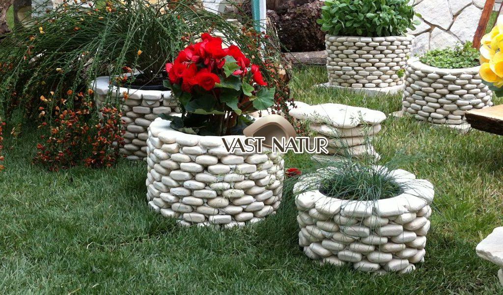 Ghivece si jardiniere piatra naturala